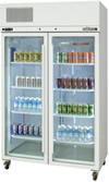upright display fridge