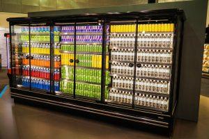 glass door supermarket refrigeration